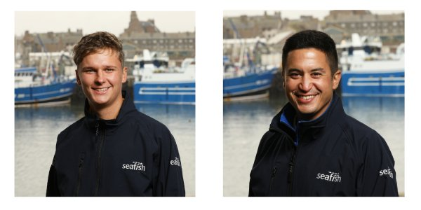 Fleet survey researchers Oscar Wilkie and Carlos Esclapez will be visiting Scottish ports. Photo: Seafish